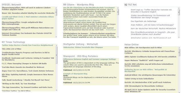 RSS-Info-Seite